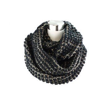 Two- Tone Big Knit Infinity Scarf