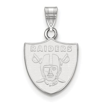NFL LogoArt Oakland Raiders Logo Pendant - Sterling Silver or Solid Gold