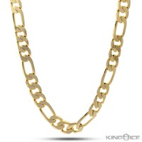 King Ice 10mm 14K Gold Figaro Chain | Hip Hop Jewelry | Urban Style Chain