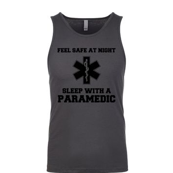 Feel Safe At Night Sleep With A Paramedic  Men's Tank