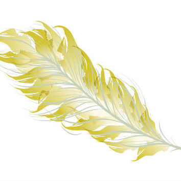 Metallic Feather Tattoo