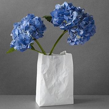 Crinkle Bag Vase: Home & Kitchen