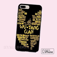 Hot New Wu tang Quotes CASE COVER iPhone 6s/6s+/7/7+/8/8+, X and Samsung