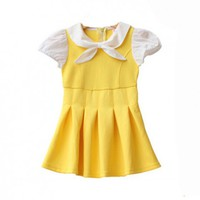 Vintage Inspired Little Girls Yellow Dress