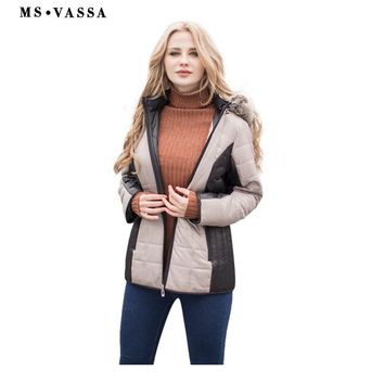 New Parkas Women Autumn Winter jacket detachable hood fixed fake fur stand up collar ladies outerwear