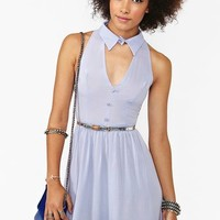 Plunging Cutout Dress - Lilac