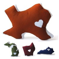 Texas Gifts - Custom State Pillows - Customize Star, Color & State! - Whimsical & Unique Gift Ideas for the Coolest Gift Givers