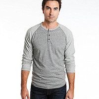Lucky Brand Colorblocked Baseball Henley Tee