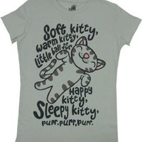 Juniors T-Shirt -Big Bang Theory - Soft Kitty