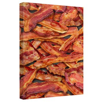 Bacon Collage Canvas Wall Art With Back Board