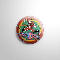 Video Game - Mr. Do Button / Keychain