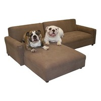 BioMedic Pet Modular Sectional Dog Sofa Fabric: Faux Leather - Maroon