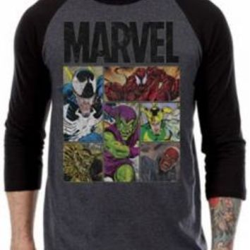 Marvel Baseball Jersey Shirt - Villains Panel