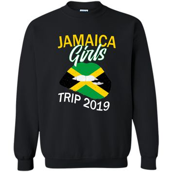 Jamaica Girls Trip 2019 T Shirt For Women Kids Printed Crewneck Pullover Sweatshirt 8 oz