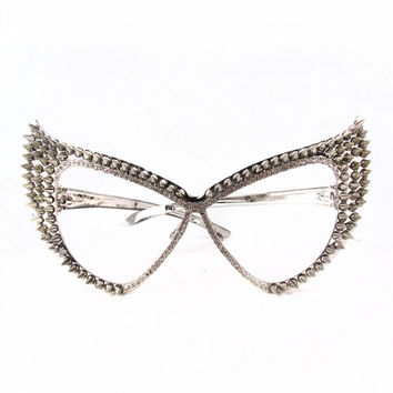 Exaggerated Studs Cateye Glasses | Patricia Field