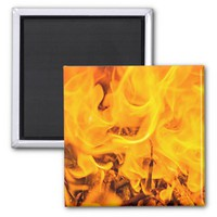 Fire and flames magnet