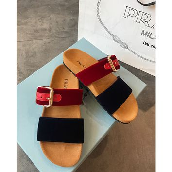 PRADA Fashion Women Casual Sandal Slipper