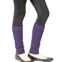 Girls Triangle Scallop Knit Legwarmer