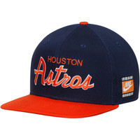 Men's Houston Astros Nike Navy/Orange Snapback Script Adjustable Hat
