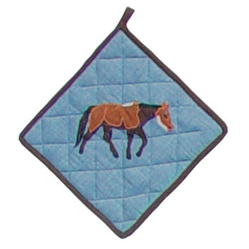 Pot Holder Horse Friends