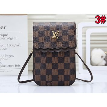 LV Louis Vuitton Newest Women Leather Crossbody Satchel Shoulder Bag Mobile Phone Package 3#