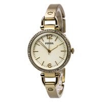 Fossil ES3226 Women's Georgia Glitz Rose Gold Dial Rose Gold Steel Bangle Bracelet Watch