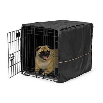"Midwest Quiet Time Pet Crate Cover Black 24.5"" x 17.5"" x 19"""