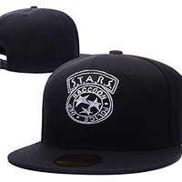 HAIHONG Resident Evil Stars Neon Logo Adjustable Snapback Embroidery Hats Caps - Black