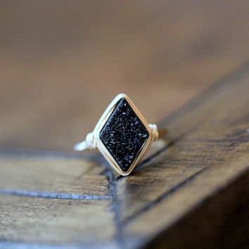 Diamond Druzy Ring - Eclipse