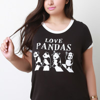 Love Pandas Graphic Print Tee