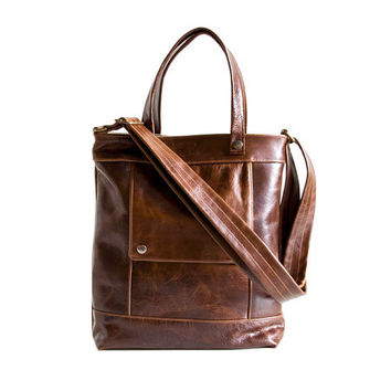 Packet in Java Brown Leather - Made to Order