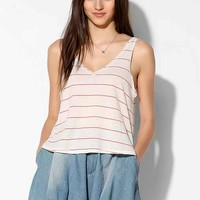 UO Stripe Double-V Tank Top