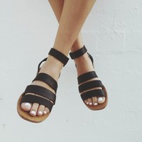 Trilogy Sandal - Black - cabin & cove