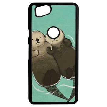 Significant Otters Otters Holding Hands Google Pixel 2 Case