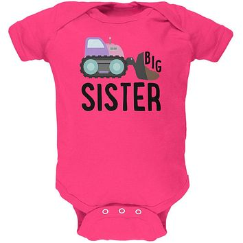 Big Sister Construction Truck Digger Soft Baby One Piece