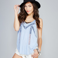 Dainty Lace-Inset Tank | Wet Seal