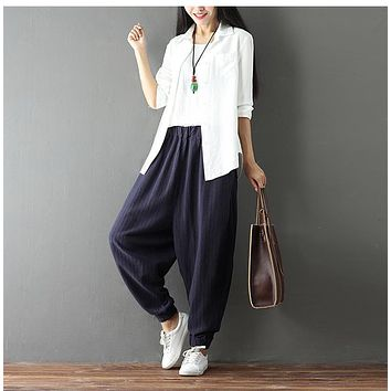 Women's High Waist Palazzo Harem Pants