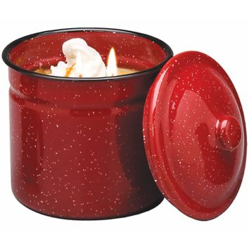 Vintage Enamelware Canister Candle - Warm Cinnamon Bun