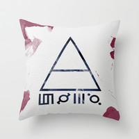 30 Seconds of Mars Watercolor Throw Pillow by Sky0323