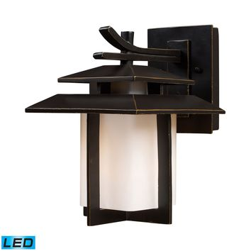 42170/1-LED Kanso 1 Light Outdoor LED Sconce In Hazelnut Bronze - Free Shipping!