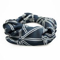 Black Symmetry Silk Scarf