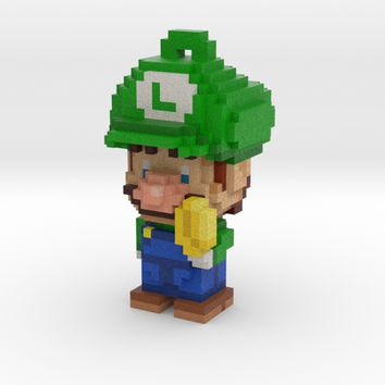 Super Plumber Green Bro Voxel Ornament