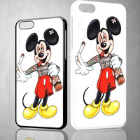 Mickey Mouse smoking joint and drinking alcohol V0980 iPhone 4S 5S 5C 6 6Plus, iPod 4 5, LG G2 G3 Nexus 4 5, Sony Z2 Case