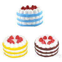 1PCS Jumbo Cute Strawberry Cake Phone Strap Squishy Slow Rising Scented Sweet Cream Charms Pendant Kawaii Bread Kids Toy Gift
