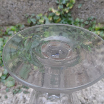 Antique wine glass - 19th century cut glass drinking bar glass - vintage antique pub decor - antique glass stemware vintage party
