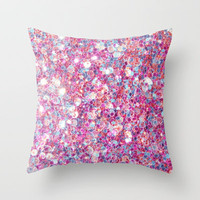 Twinkle Pink Throw Pillow by Sharon Johnstone | Society6