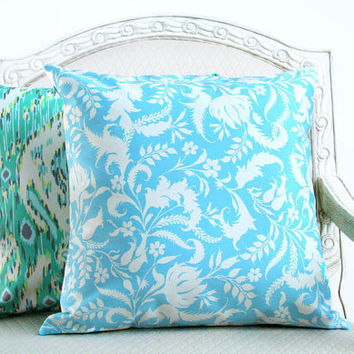 Amy Butler Lark in Teal and Ivory by SassyStitchesbyLori on Etsy
