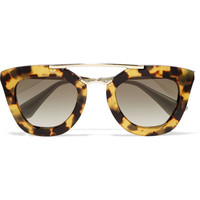 Prada - D-frame acetate and metal sunglasses