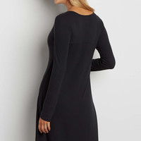 ribbed dress with long sleeves | maurices