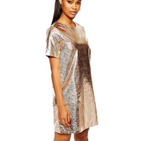 Sequin Embellished Shift Dress